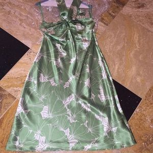 Ann Taylor Loft silk floral backless tie halter